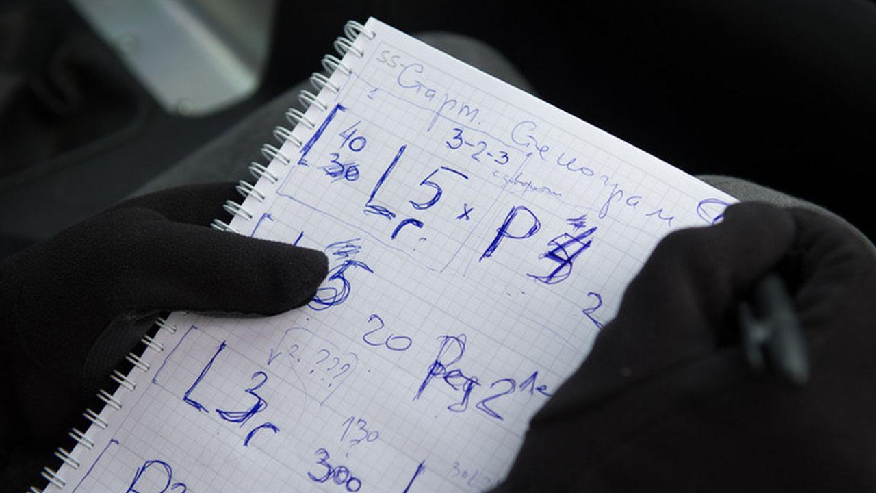 штурманская стенограмма для ралли