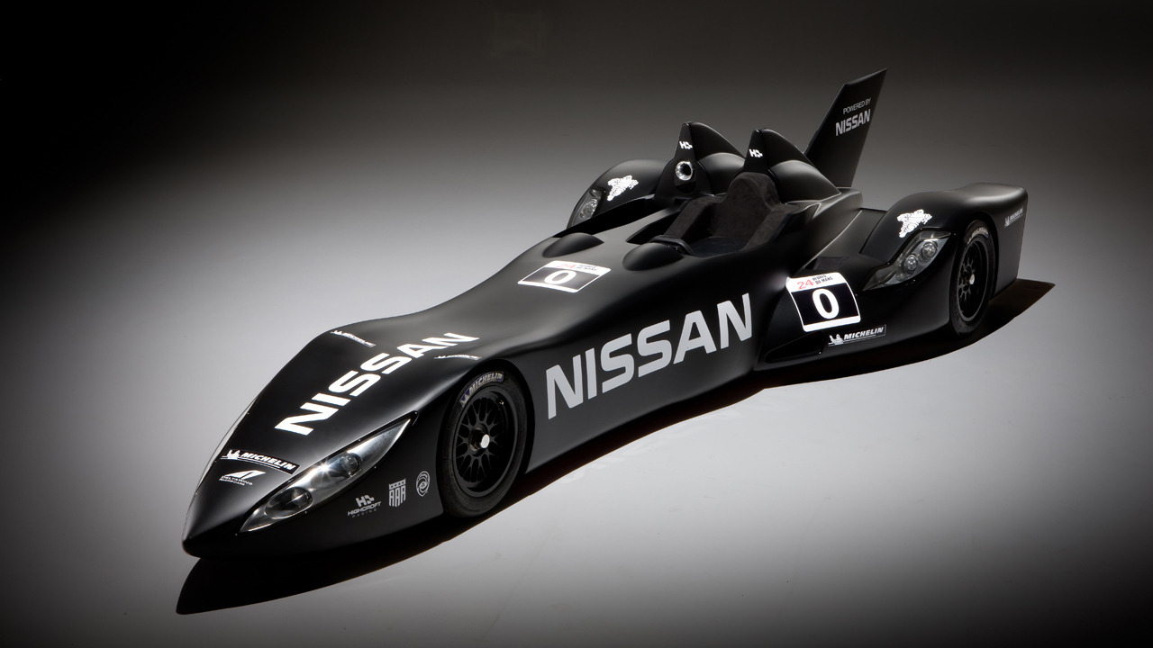 чёрный Nissan Deltawing