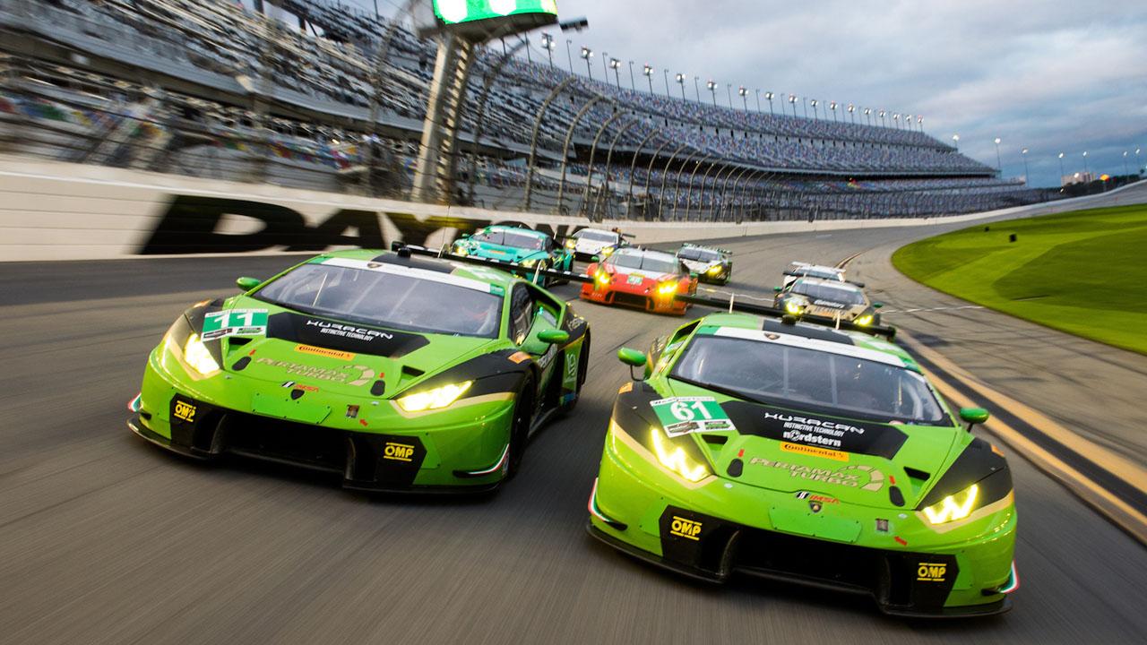 Lamborghini на скорости