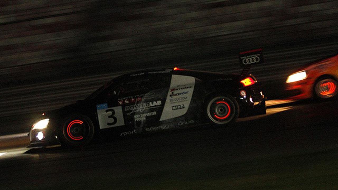 автомобильные огни ночная гонка