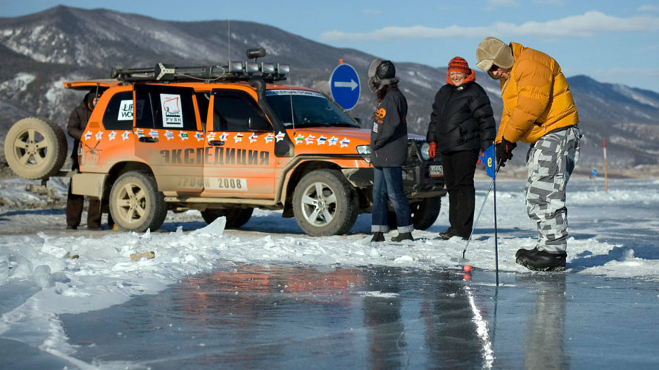 Игра в гольф на льду
