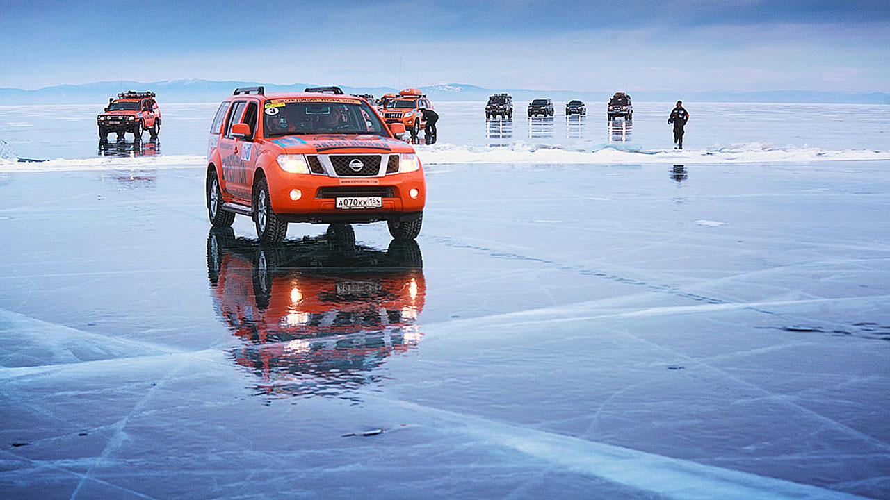 Джипы на льду
