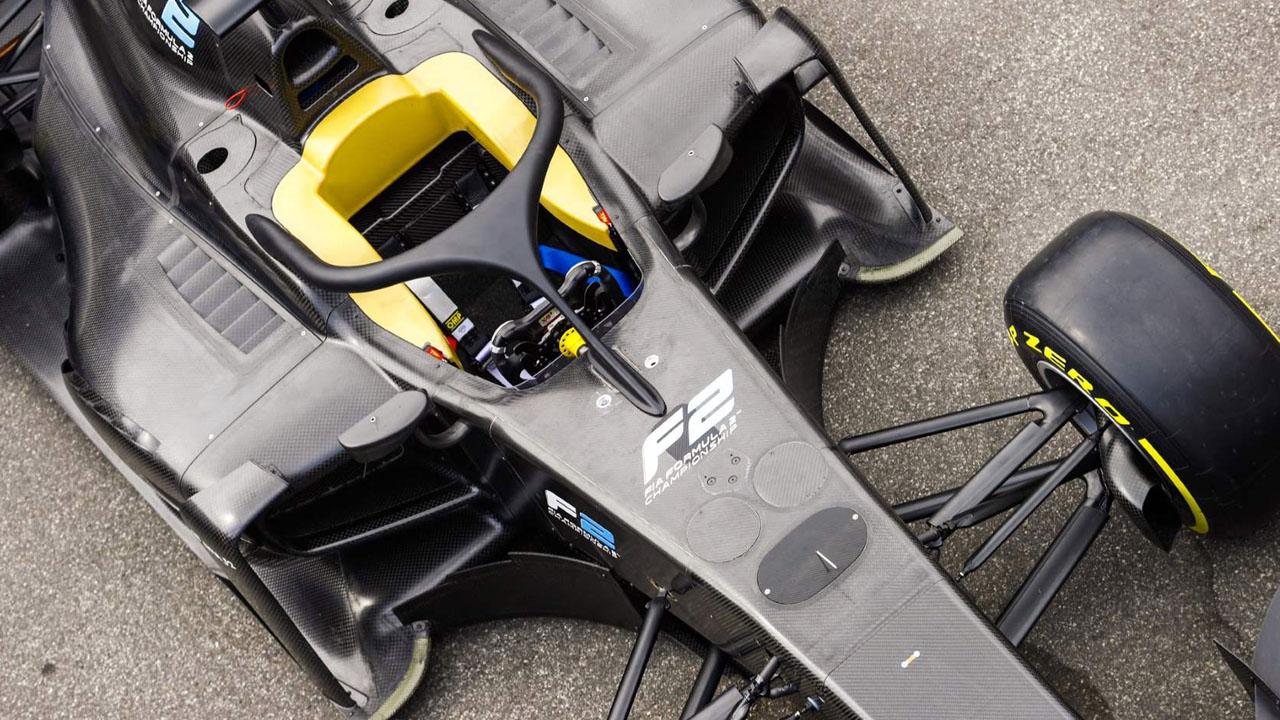 Хало на болиде Формула 2