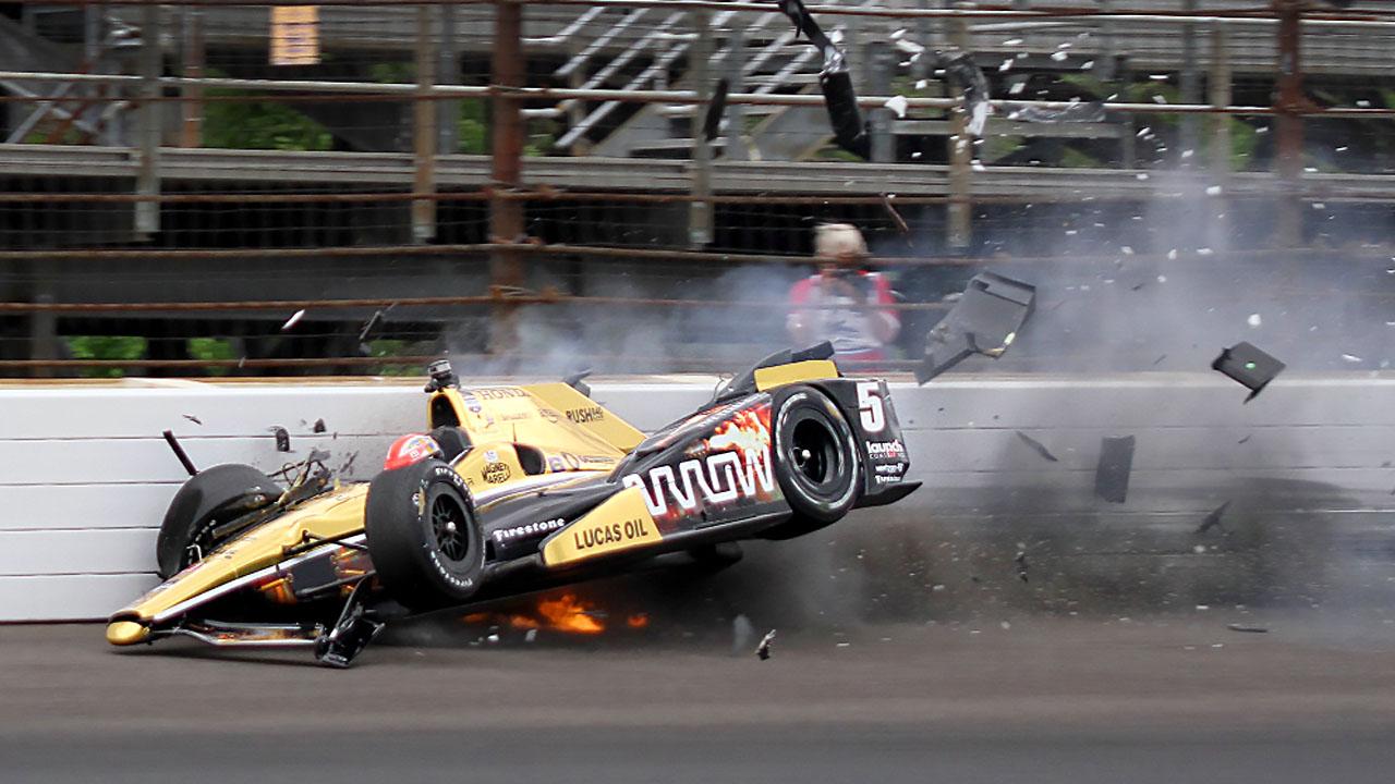 авария на гонке