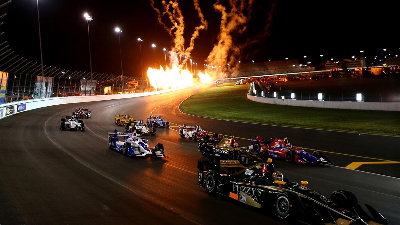пожар на ночной гонке