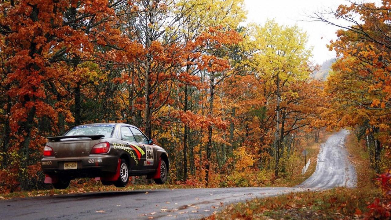 Subaru Imprez на Любительском Ралли