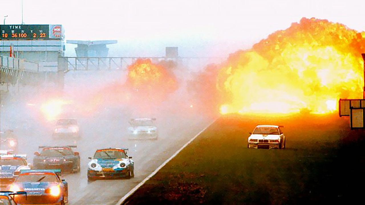 пожар на гонке