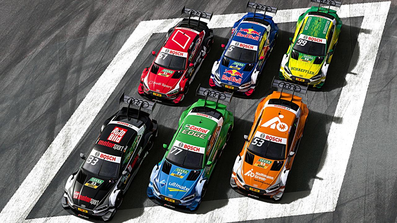 шесть гоночных авто