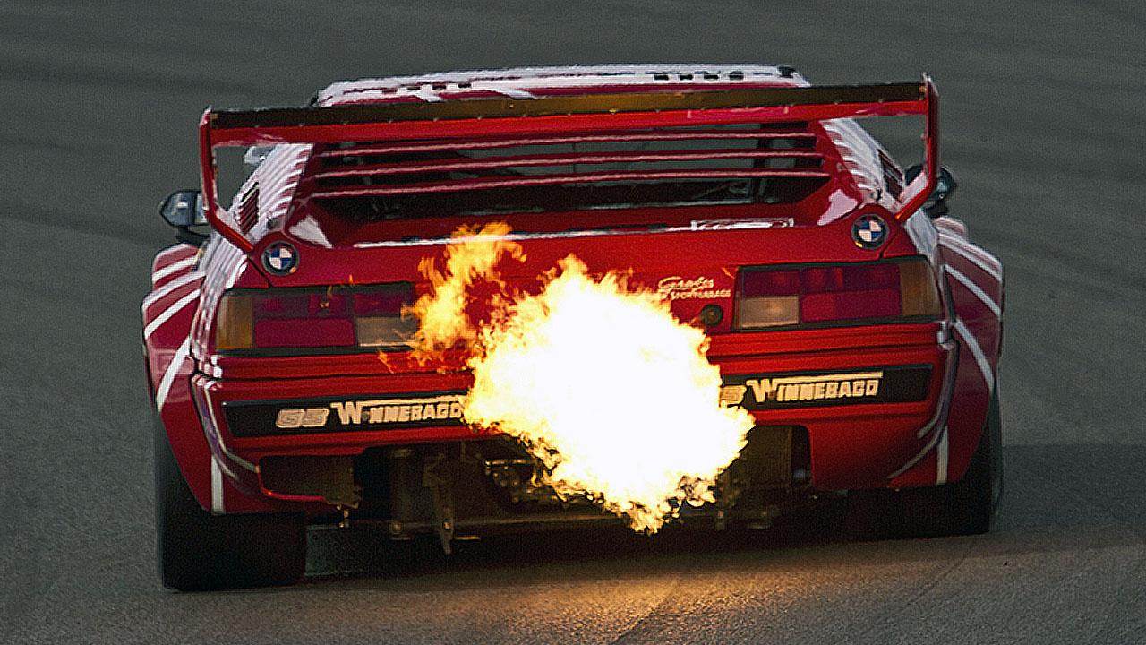 огонь из выхлопной bmw