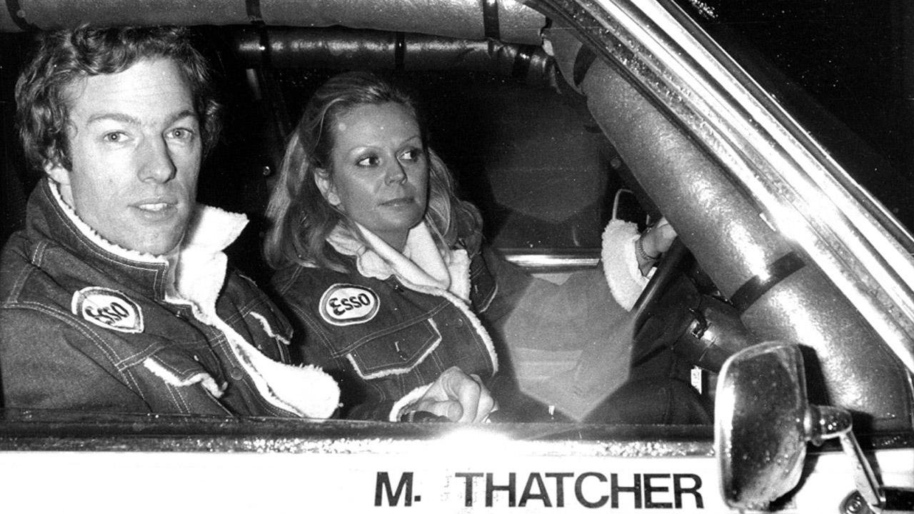 Марк Тетчер в раллийной машине