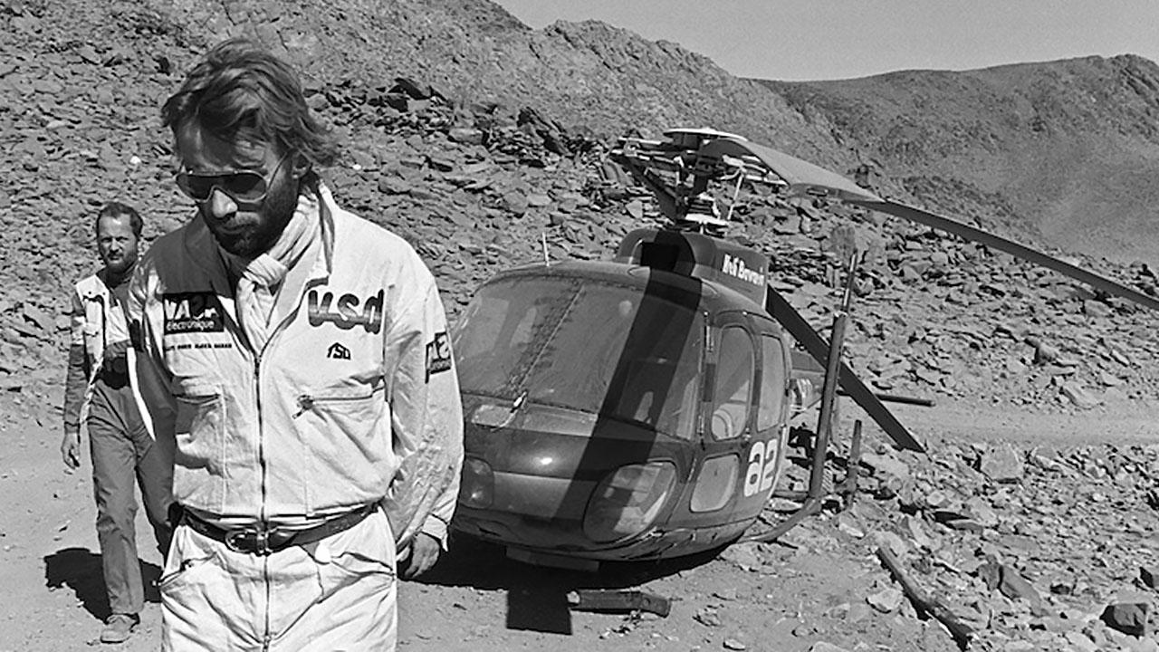 Тьерри Сабин у вертолета