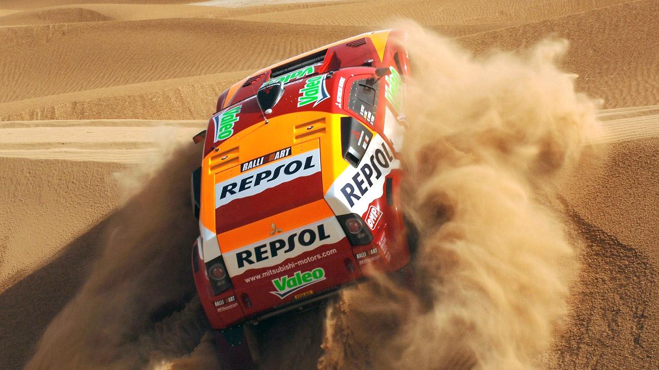Паджеро в пустыне