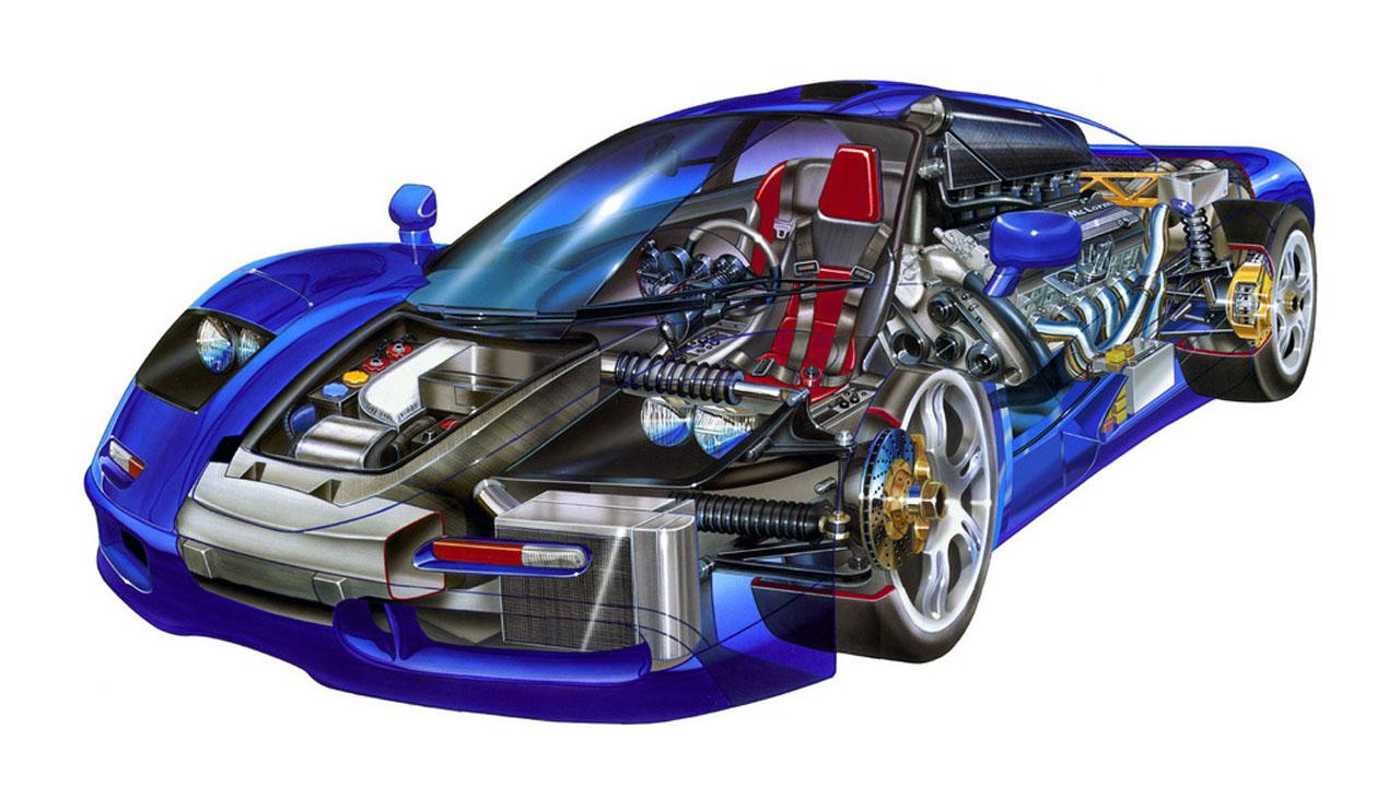 Схематический рисунок подвески гоночного авто