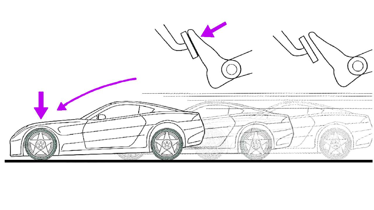 Загрузка передних колес при торможении