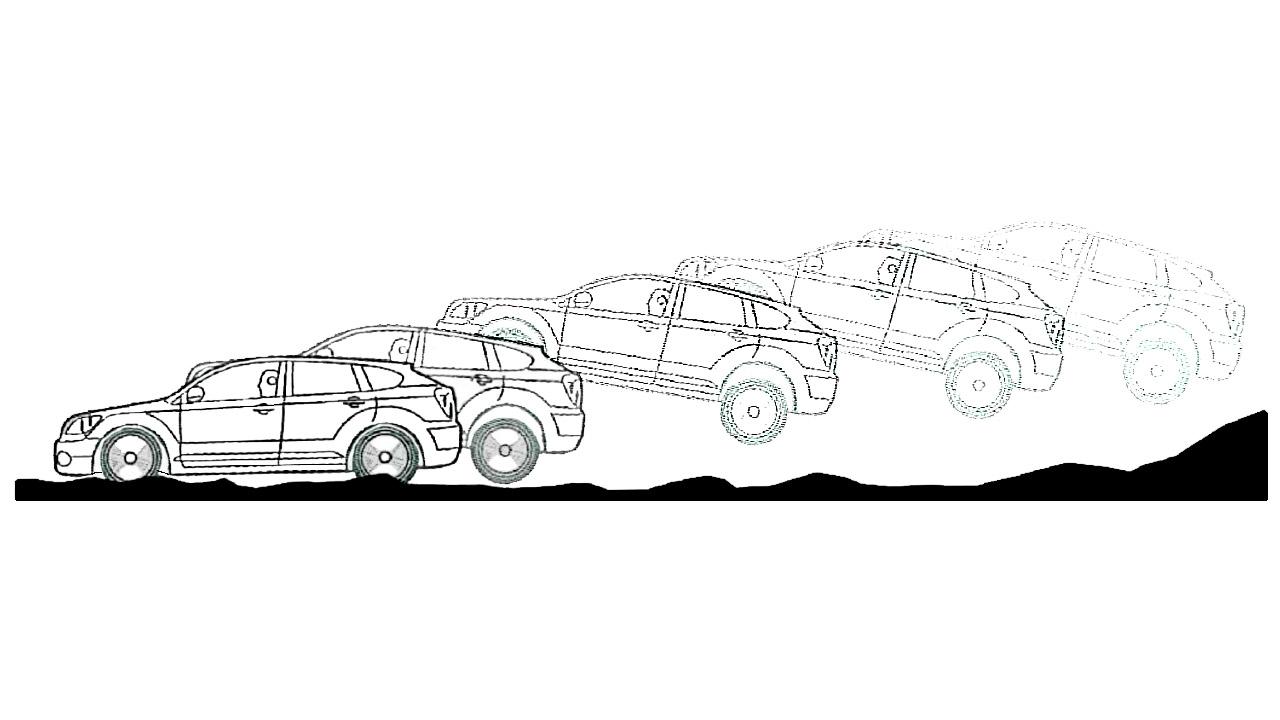 Излишек скорости прыжке на машине