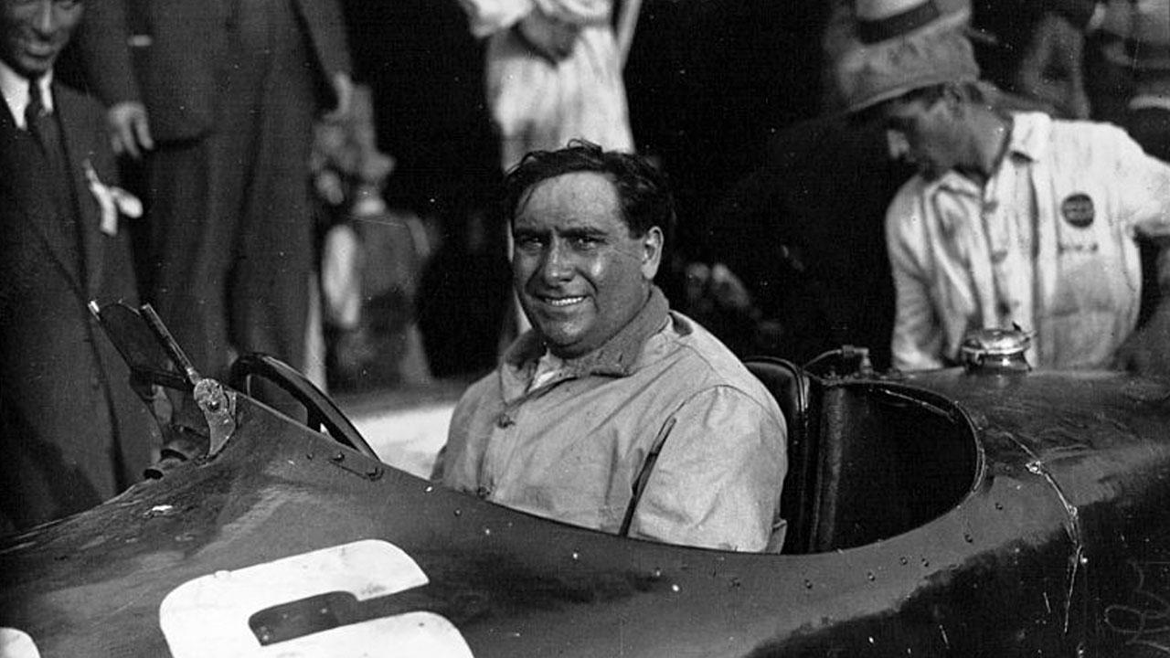 Джузеппе Кампари в болиде Формулы 1