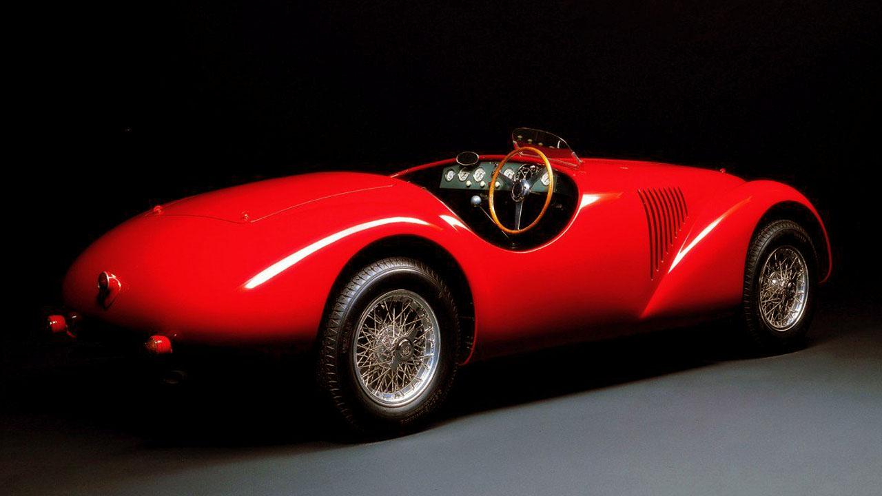 Ferrari 125 вид сзади