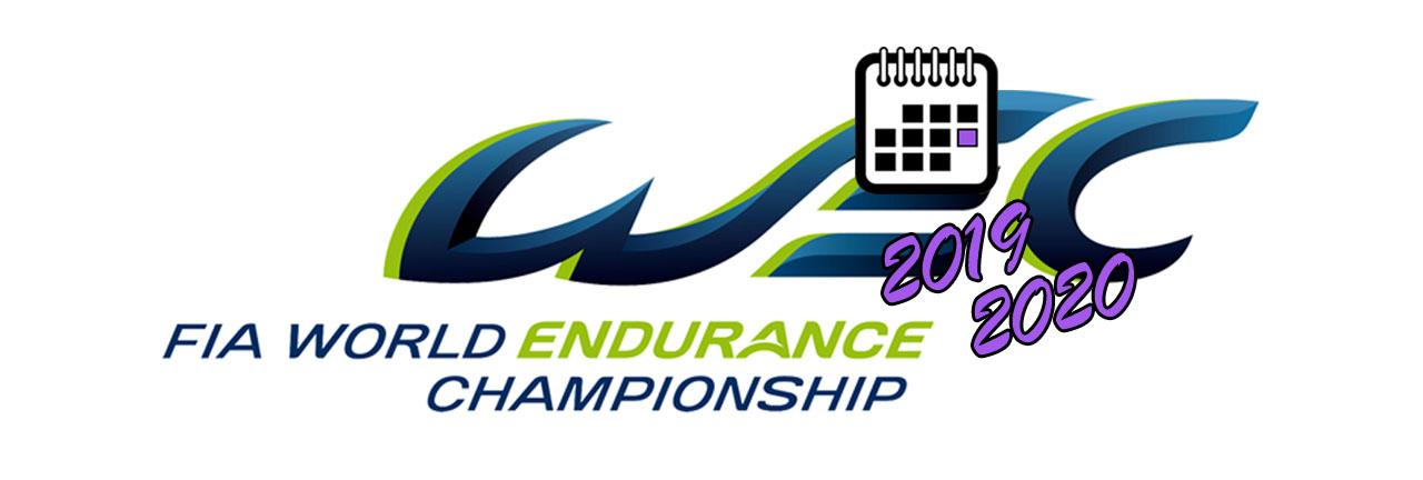 FIA WEC Calendar 2019 BIG LOGO ЛОГОТИП