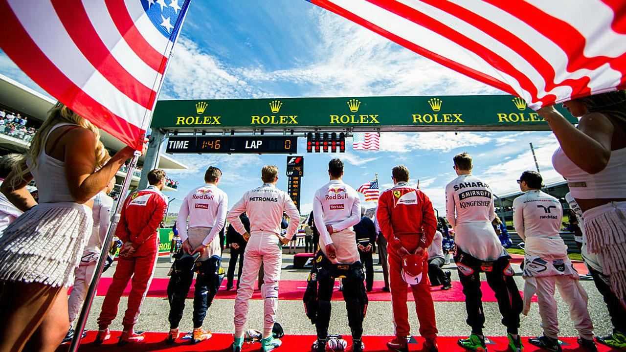 Гимн на USA F1 GP