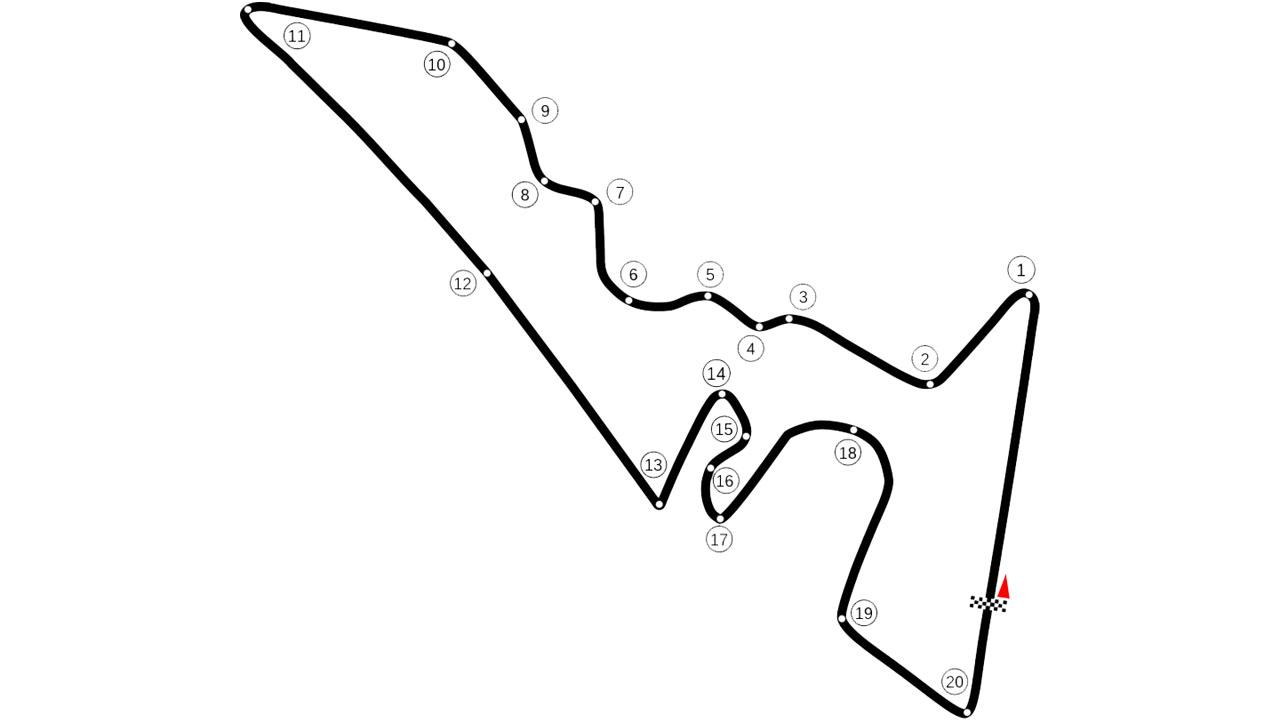 Схема Circuit of the Americas