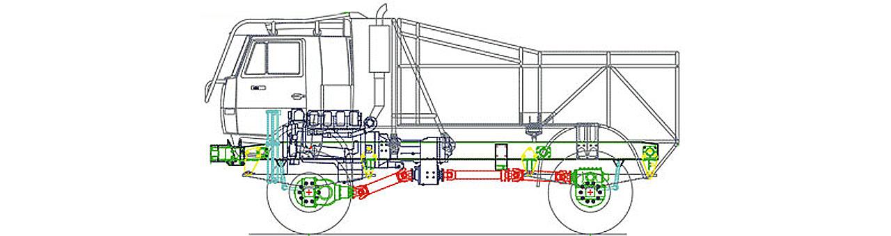 Схематический рисунок гоночного КАМАЗа