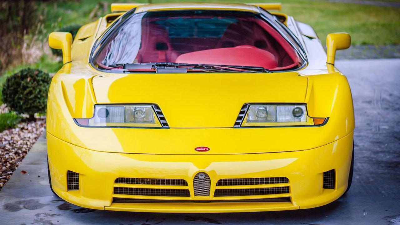 Желтая ЕВ110 Вид спереди