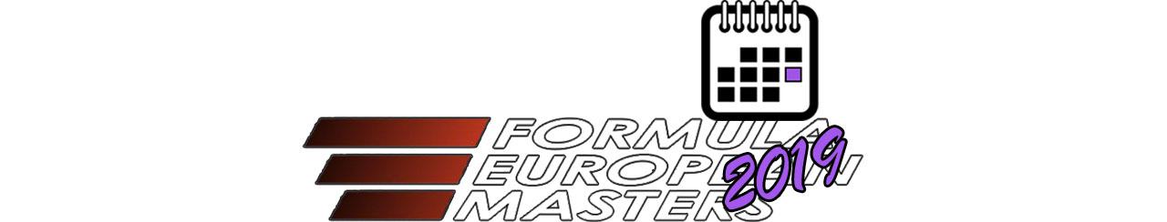 EUROPEAN FORMULA MASTERS BIG LOGO Календаря 2019