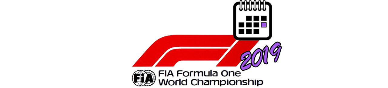 Formula 1 BIG LOGO Календаря 2019 года