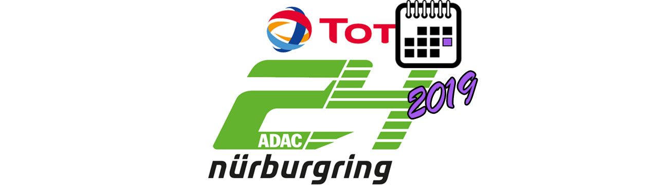 BIG LOGO Календаря ADAC Total 24 of Nurburgring 2019