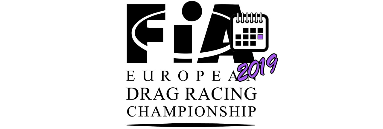 European Drag Racing Championship BIG LOGO Календаря 2019