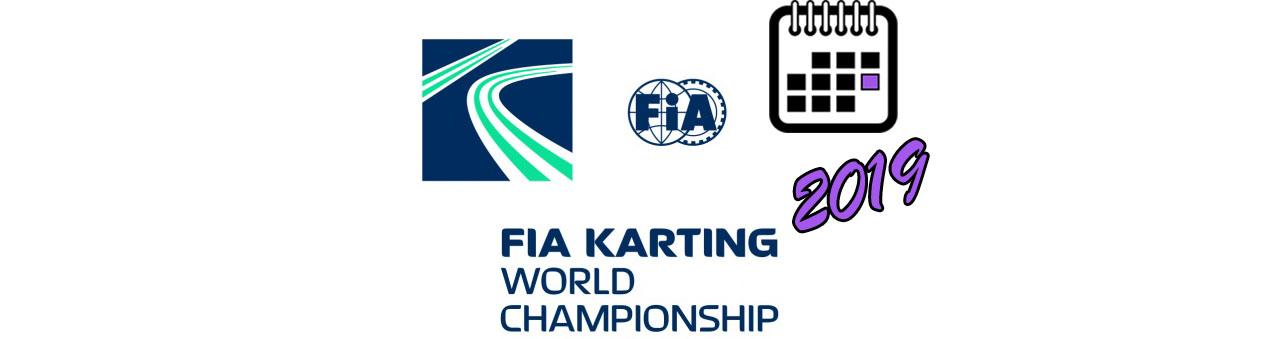 FIA KARTING WORLD CHAMPIONSHIP BIG LOGO Календаря