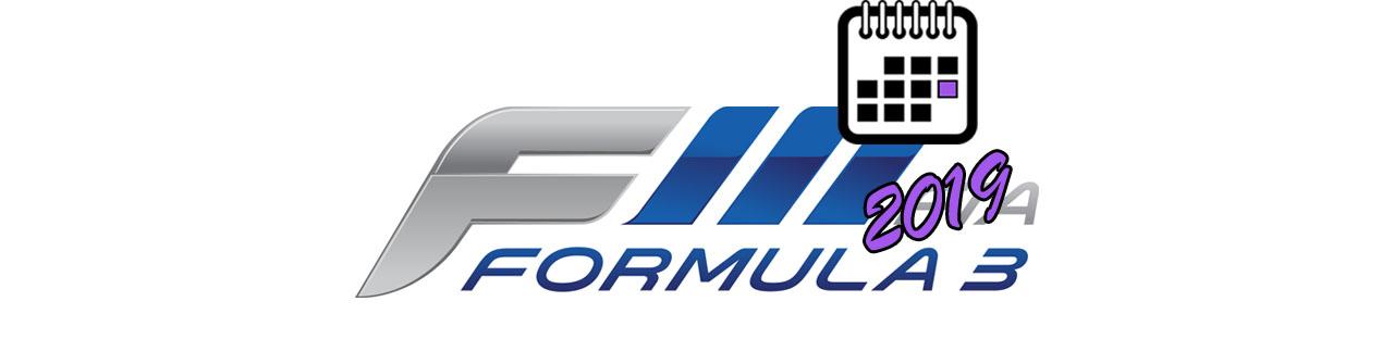 Formula 3 BIG LOGO Календаря 2019