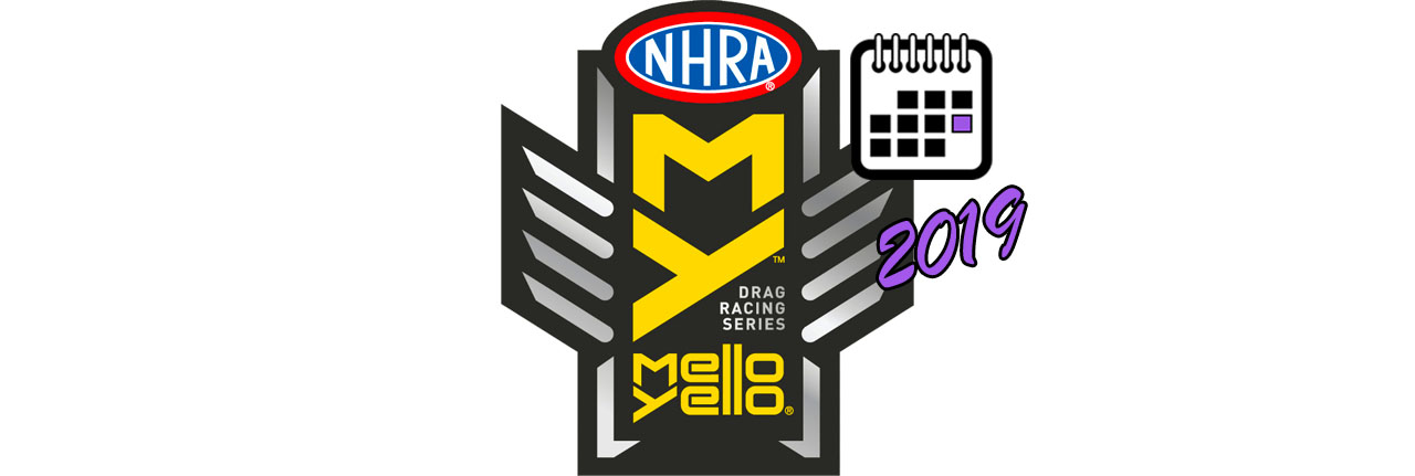 NHRA Mello Yello Drag Racing Series BIG LOGO Календаря 2019