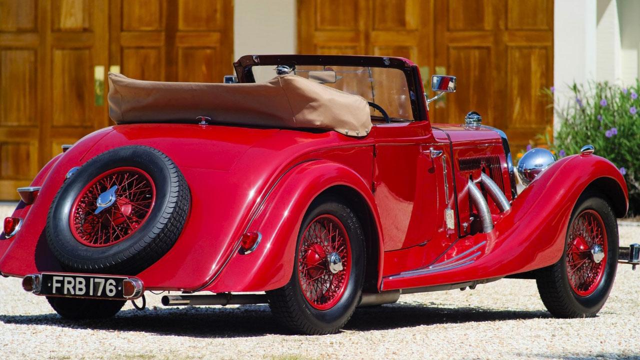 Aston Drophead 1937 сбоку