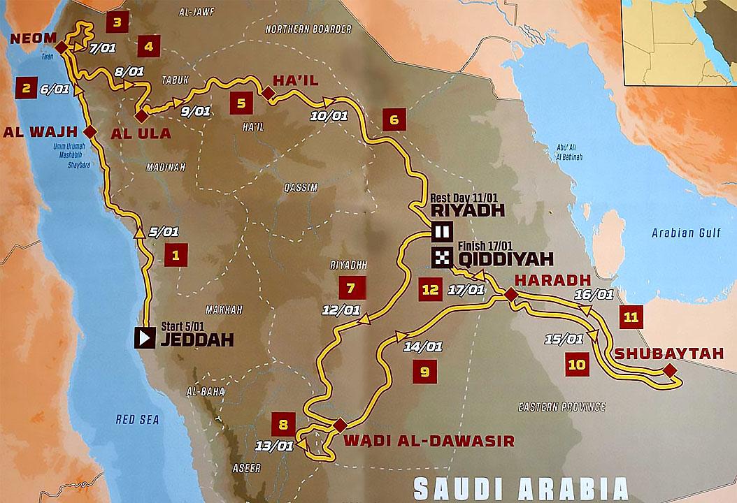 Dakar 2020 Marshrut