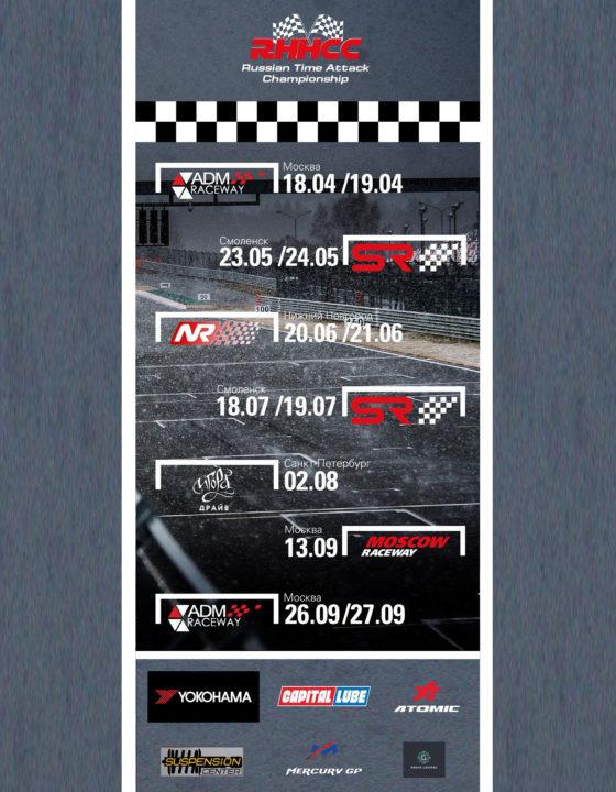 Календарь Russian Time Attack Championship – Расписание этапов RHHCC 2020 года